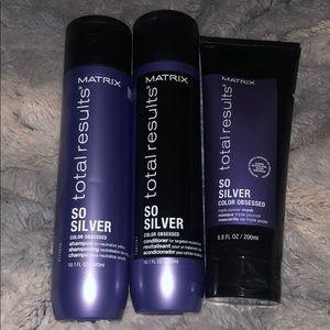 *NEW*Matrix SoSilver shampoo, conditioner and mask